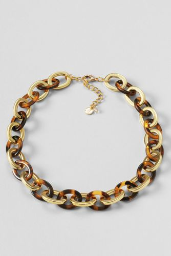 Women's Tortoise Link Statement Necklace