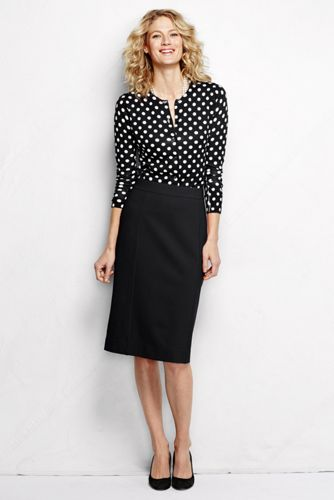 Women's Regular Ponte Jersey Pencil Skirt