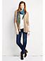 Women's Petite Cotton Open Front Cardigan