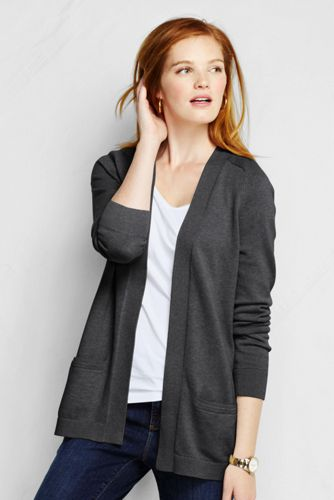 Women's Regular Cotton Open Front Cardigan