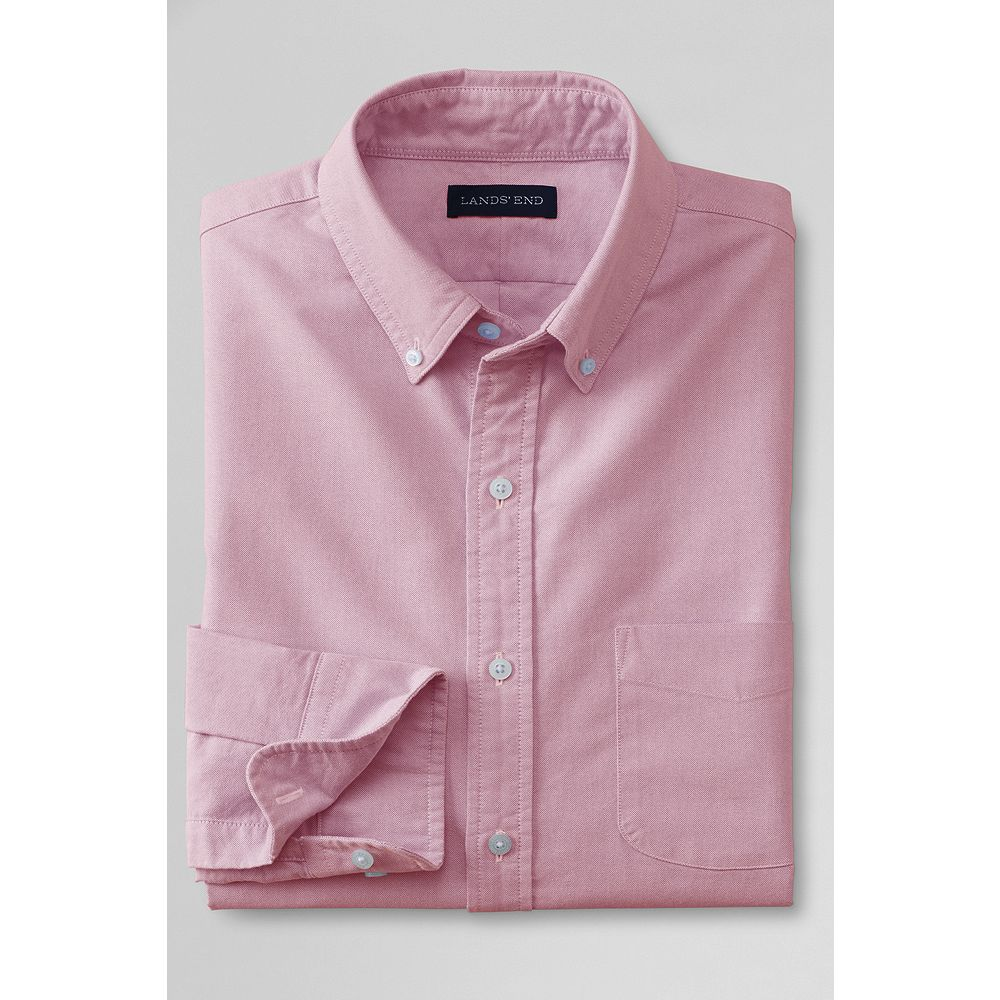 Lands' End Men's Tailored Solid Sail Rigger Oxford Shirt at Sears.com