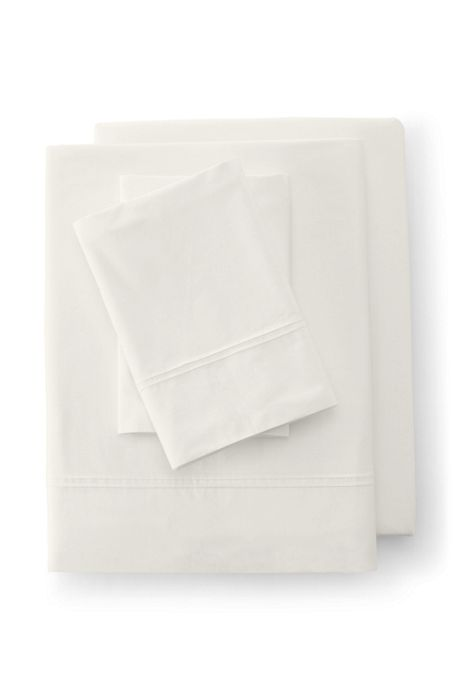 Cotton Percale Pintuck Sheets - 200 Thread Count