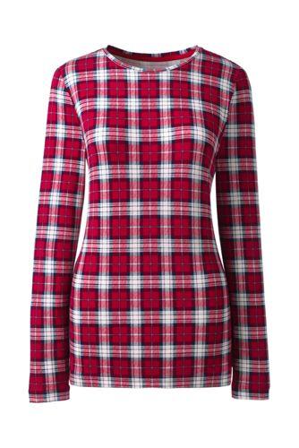 Gemustertes Langarm-Shirt aus Baumwoll-Viskose-Mix in Petite-Größe