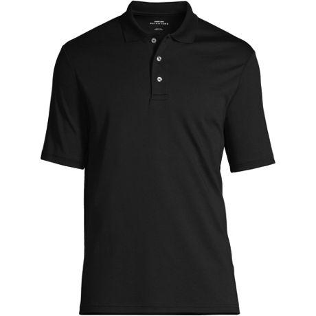 Men's Embroidered Logo Hemmed Short Sleeve Pima Cotton Polo Shirt