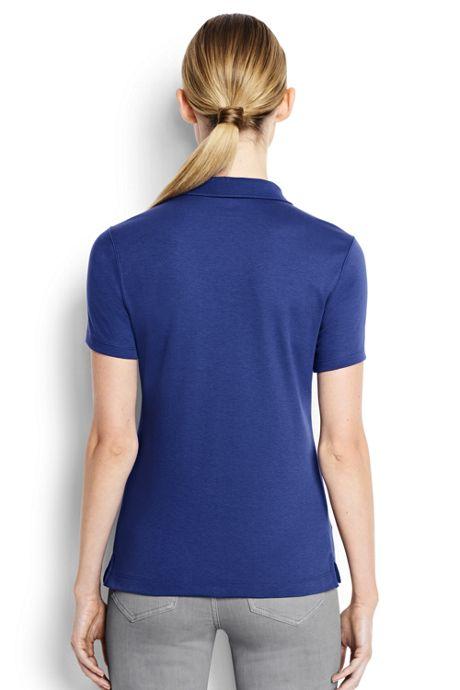 Women's Short Sleeve Feminine Fit Hemmed Pima Polo
