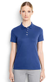 Women's Short Sleeve Feminine Fit Hemmed Pima Polo, Front