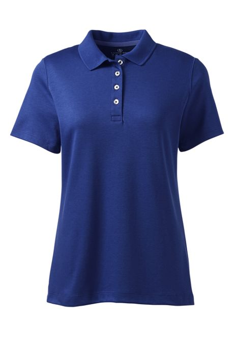 Women's Short Sleeve Feminine Fit Hemmed Pima Polo Shirt