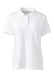 Women's Plus Size Short Sleeve Feminine Fit Hemmed Pima Polo Shirt