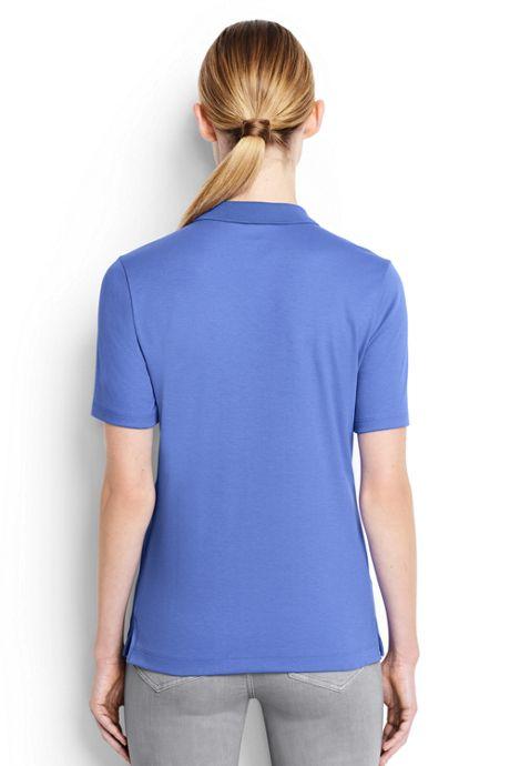 Women's Short Sleeve Relaxed Fit Hemmed Pima Polo Shirt