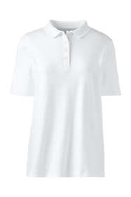 Women's Plus Size Short Sleeve Relaxed Fit Hemmed Pima Polo Shirt