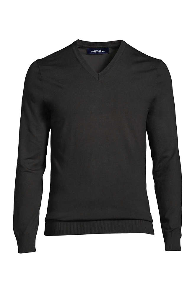 Men's Long Sleeve Performance Tailored Fit V-neck Sweater, Front