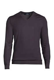 Men's Long Sleeve Performance Tailored Fit V-neck Sweater