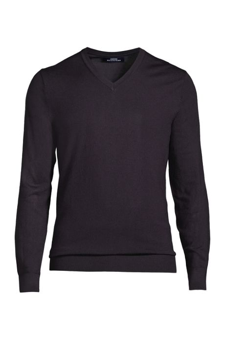 Men's Performance Long Sleeve Tailored Fit V-neck Sweater
