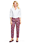 Women's Regular Tailored Slim Leg Patterned Twill Trousers