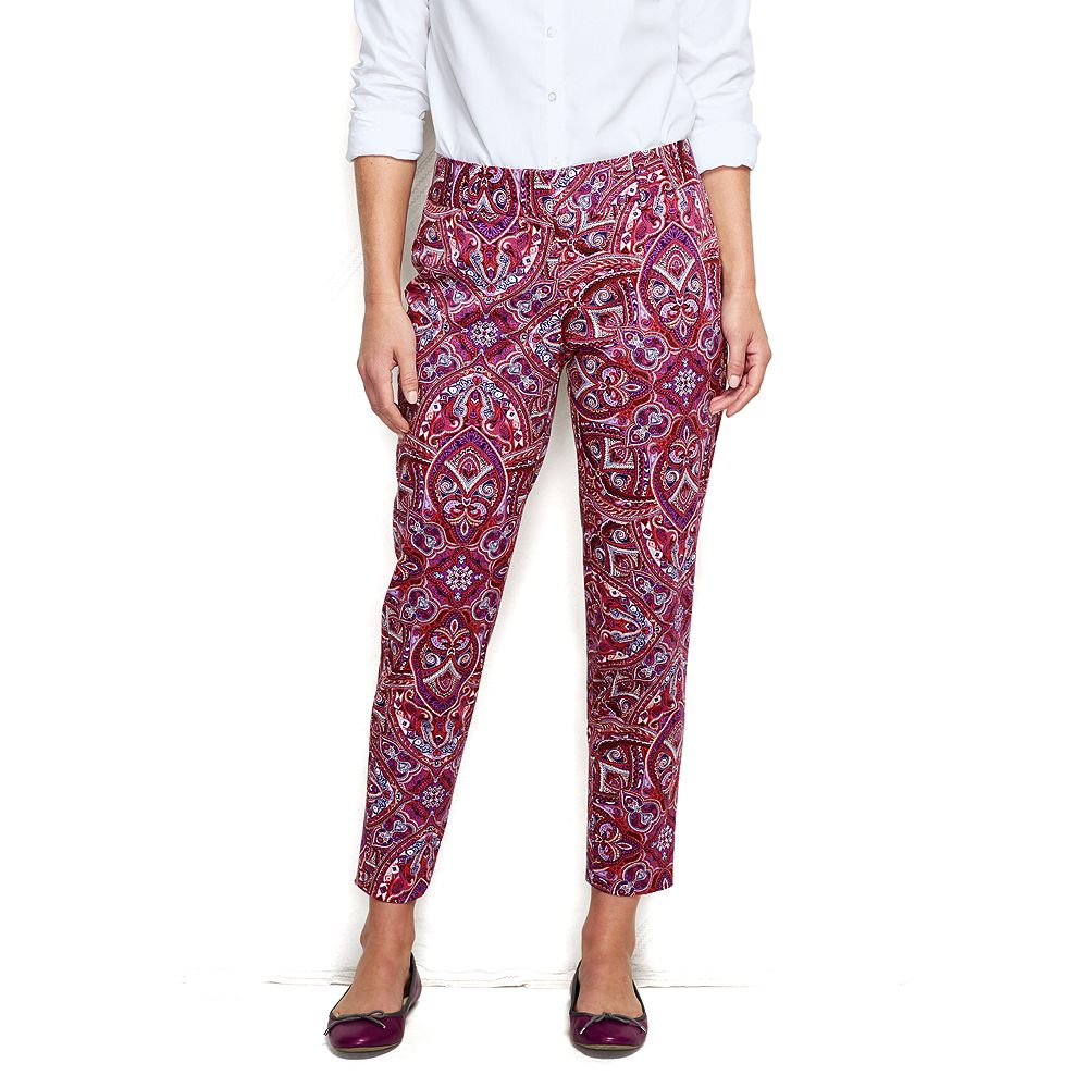 Lands' End Women's Fit 2 Slim Pattern Twill Pants at Sears.com