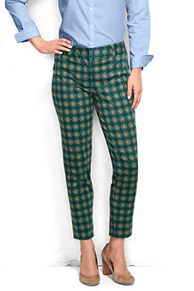 Women's Tailored Slim Leg Patterned Twill Trousers