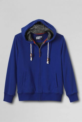 Men's Regular French Terry Sherpa-lined Hoodie