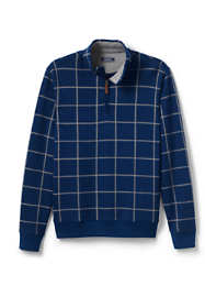 Men's Bedford Rib Printed Half Zip Mock Pullover