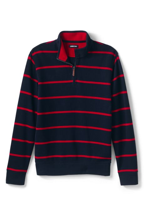 Men's Tall Print Bedford Rib Quarter Zip Sweater