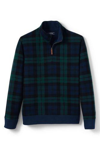 Gemusterter Zipper-Pullover aus Bedford-Ripp für Herren