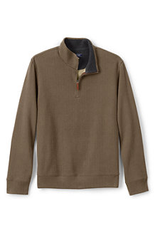 Men's Patterned Brushed Rib Half Zip Jumper