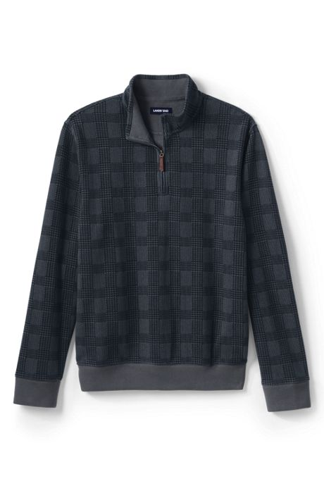 Men's Print Bedford Rib Quarter Zip Sweater