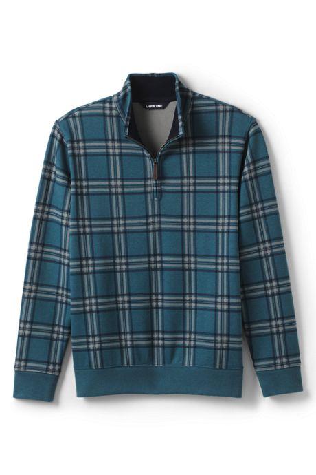 Men's Print Bedford Rib Quarter Zip Sweater