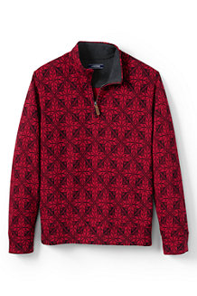 Men's Patterned Brushed Rib Pullover