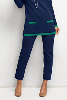 Women's Mid Rise Slim Leg Ponte Trousers