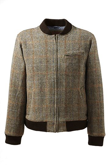 Willis & Geiger Harris Tweed Varsity Jacket 449020