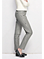 Women's Regular Mid Rise Plaid Slim-leg Stretch Twill Trousers