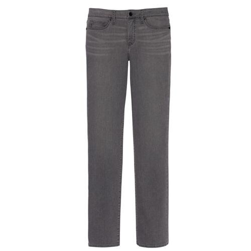 Women's Regular Smoke Mid Rise Straight Leg Jeans