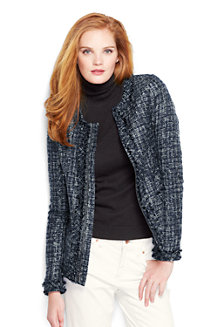 Women's Long Sleeve Fringe Texture Jacket