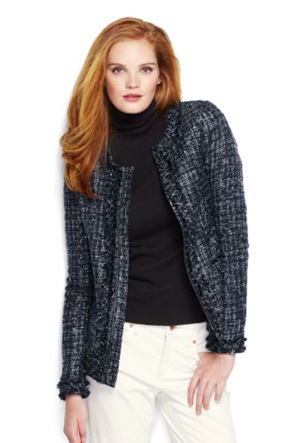 Women's Regular Long Sleeve Fringe Texture Jacket