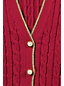 Women's Regular Cable Knit Tipped V-neck Cardigan