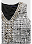 Women's Regular Beaded Tweed Shift Dress