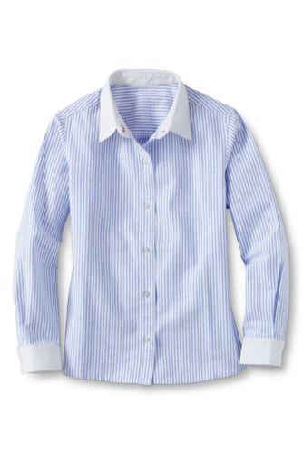 Little Girls' Contrast Cuff Woven Shirt