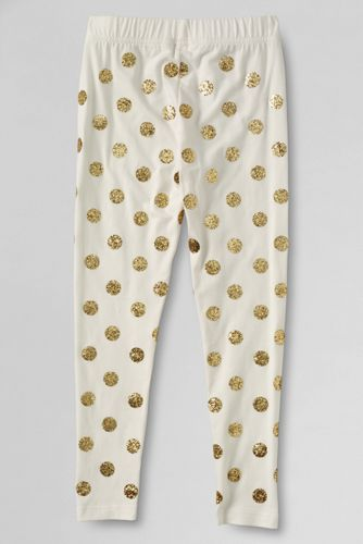 Little Girls' Glitter Dots Ankle Knit Leggings