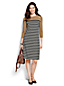 Women's Regular Ponte Jersey  Button Shoulder Shift Dress