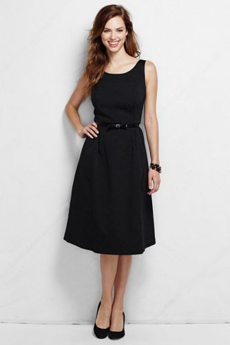 Women's Regular Scoop Back Textured Jacquard Dress