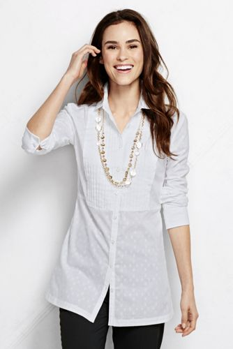 Women's Regular Pleated Cotton Tunic