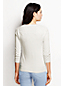 Women's Regular Supima Lace Trim Three-Quarter Sleeve Crew Neck Jumper