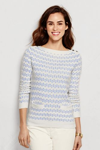 Women's Petite Lofty Blend Boat Neck Jumper