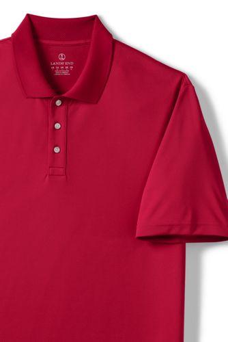 Men's Big Short Sleeve Solid Active Polo Shirt