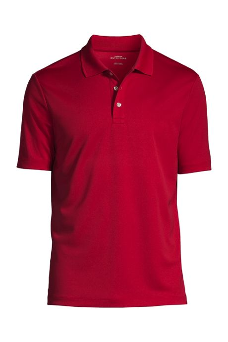 Men's Custom Embroidered Logo Short Sleeve Solid Active Polo Shirt