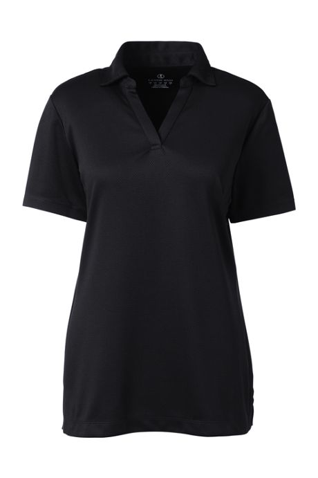 Women's Short Sleeve Active Mesh Johnny Collar Polo