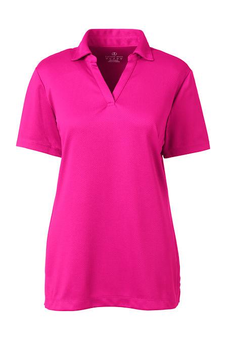 Women S Short Sleeve Active Mesh Johnny Collar Polo