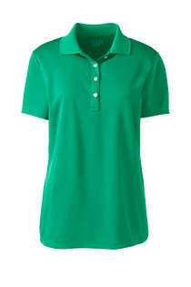 Women's Short Sleeve Solid Active Polo, Front