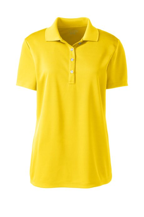 Women's Short Sleeve Solid Active Polo Shirt