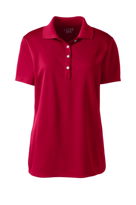 Women's Plus Size Short Sleeve Solid Active Polo